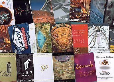 VENETIAN / PALAZZO LAS VEGAS - LOT of 20 Casino Hotel Room KEY Cards ~ All Diff