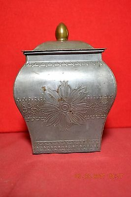 Early Holland Tin Tea Container Caddy