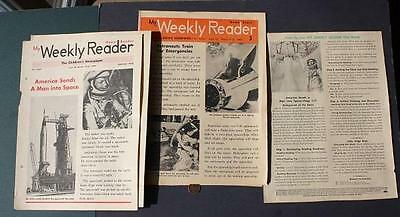 1962-66 NASA Astronauts Space Center THREE Weekly Reader set-Glenn-Grissom-Young