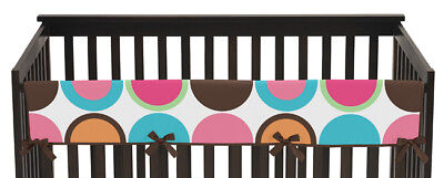 Jojo Modern Deco Dot Front Rail Guard Crib Cover Baby Teething Protector Wrap
