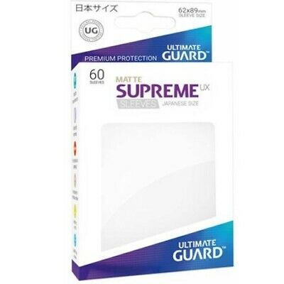Ultimate Guard 60 Supreme UX Sleeves Japanese Size Matte White UGD010589