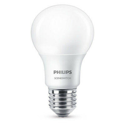 Philips LED Birnenlampe SceneSwitch 8W (60W) E27 827 300° DIM matt