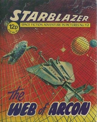 The Web Of Arcon,no.12,starblazer Space Fiction Adventure In Pictures,comic