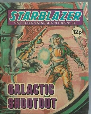 Galactic Shootout,no.25,starblazer Space Fiction Adventure In Pictures,comic
