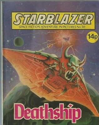 Deathship,no.36,starblazer Space Fiction Adventure In Pictures,comic
