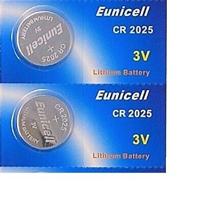 EUNICELL - 2 BUTTON BATTERIES Lithium 3 v CR2025 new blister pack