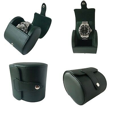 Green PU Leather Watch Hard Case Travel Case Watch Box Pouch Roll