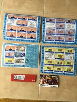 St Vincent  West Indies  various  islands x souvenir Sheets &sTamp books MNH