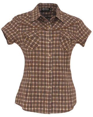"OUTBACK Western-Bluse ""Gold Rush"" / Karobluse - Gr. S     ***SALE -15% Rabatt***"