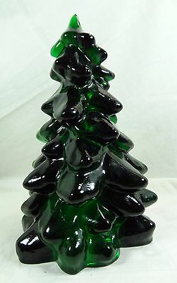 "Mosser 8"" Christmas Evergreen Tree Hunter Green Glass"