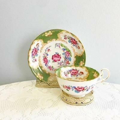 Vintage Royal Grafton Bone China England Teacup & Saucer Canton (01)