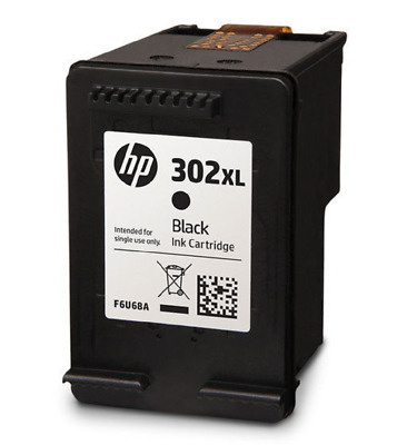 1 X  Black Ink Cartridge Refilled Compatible With Hp 302Xl Hp 302 Xl Version