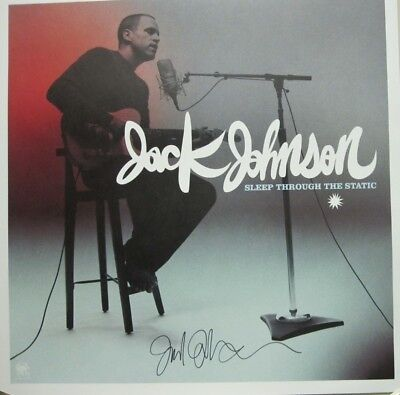 Jack Johnson 2008 Autographed sleep through static poster New Old Stock Flawless