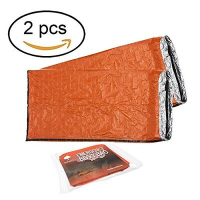 2 Pack - Bramble Emergency Bivvy Bag - Survival Sleeping Bag – Bushcraft – T