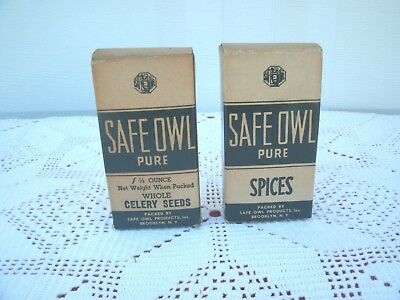 Vintage Collectible Advertising Spice *Safe-Owl*--Cardboard--New