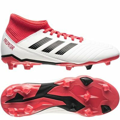 40e0325a9 adidas Predator 18.3 FG 2018 Soccer Cleats Shoes White Black Red Kids -  Youth