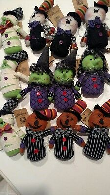 Glitzhome Halloween Ornaments - 12 Ornaments - New With Tags