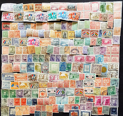 200 Stamps From Paraguay