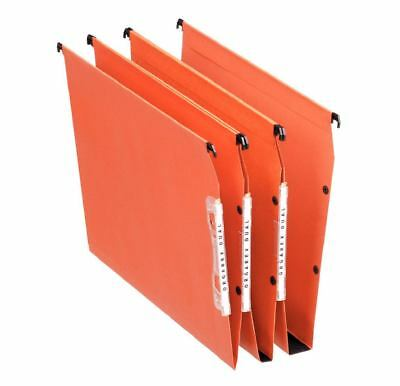Esselte  Orgarex Lateral File 30mm Base A4 Ornge 21629 (PK25)