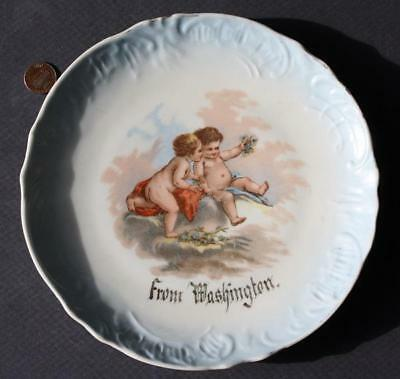 1900-10s Pre-World War I Washington DC or State Angels-Cherubs souvenir plate!
