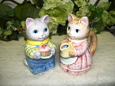 Cat Cream Pitcher and Sugar Bowl 1991 Avon