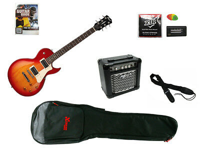 CORT LP-STYLE ELECTRIC GUITAR PACK Includes Amp, Gig Bag, Tuner, Strings, Str...