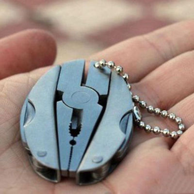 Pocket Multi Function Mini Foldaway Keychain Pliers Knife Screwdriver Tool Set