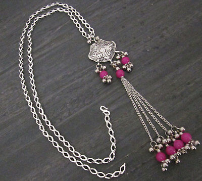 Chain Tassel Long Necklace Pendant Bohemian Gypsy Tribal Vintage Fashion Jewelry