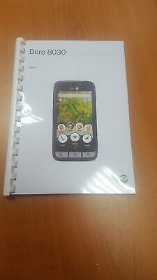Doro Phone 8030 Printed Instruction Manual User Guide 80 Pages A4