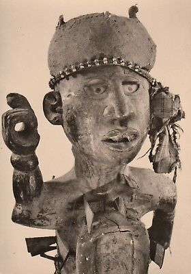 Post Card - African Art / Top part of a magic figure (Vili, Congo)