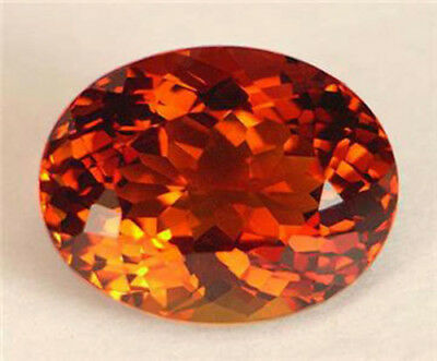 6.88Ct Flawless Portuguese Oval Super Collectable 5A True Madeira Orange Citrine