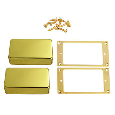 2pcs Guitar Humbucker Pickup Frame Mounting Rings with Pickup Covers for ST