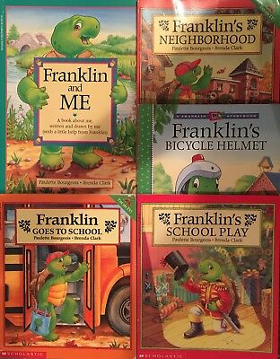 """Lot Of 5 """"franklin"""" Books By Paulette Bourgeois And Brenda Clark"""