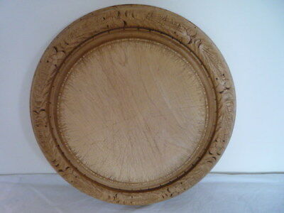 Old Traditional Vintage Carved Wooden Bread Board Chopping Board Kitchenalia