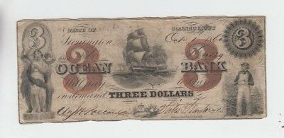 Obsolete Currency Ocean Bank Connecticut  fine