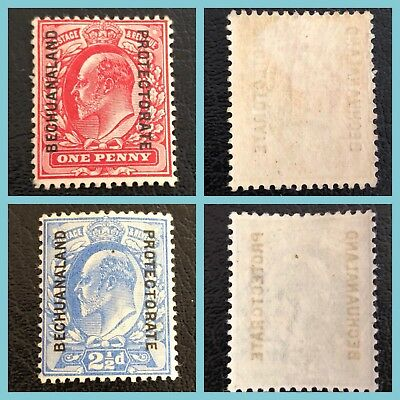 Bechuanaland Protectorate Postage Stamps Sg68 & Sg69 Mnh