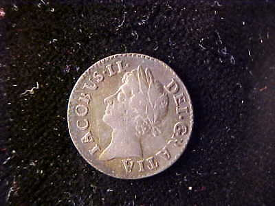 James Ii Maundy Silver Two Pence 1688/7