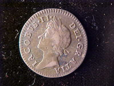 James Ii Maundy Silver Four Pence 1686