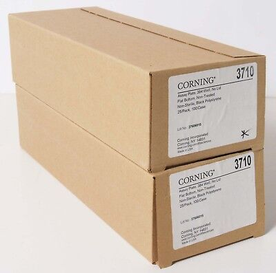 35 Corning 3710 Assay Plate 384 Well No Lid Flat Bottom Non-Treated