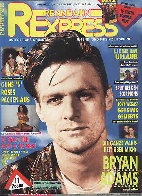 Rennbahn Express Nr.7/8 von 1992 Bryan Adams, Clouseau, Michelle Pfeiffer, Kiss