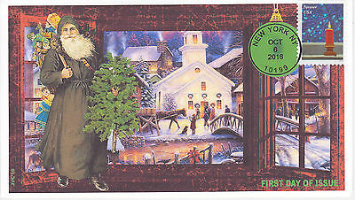 Jvc Cachets - 2016 Holiday Windows Issue First Day Cover Fdc Christmas Design #4