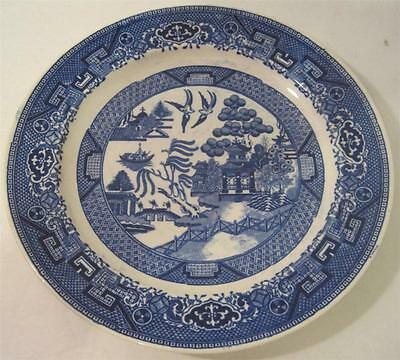 "VINTAGE HOMER LAUGHLIN BLUE WILLOW 5 LUNCHEON PLATEs 9"" W7943"