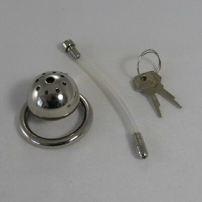 Small chastity cage & urethral tube (CH-93)  FREE UK DELIVERY