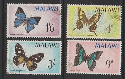 MALAWI  37-40 Butterfly set 1966 used.