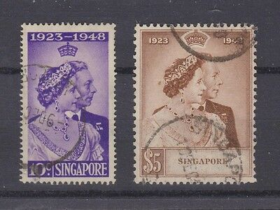SINGAPORE 21-22 1948 Silver Wedding used