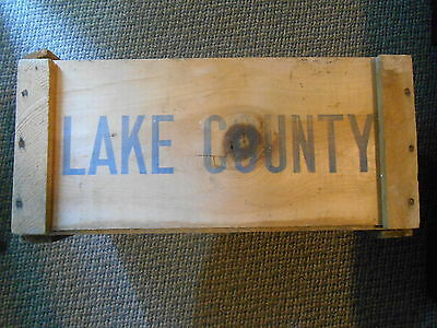 Old Vintage Wood Advertising Crate Box Lake County Diamond Mtn Bartlett Pears CA