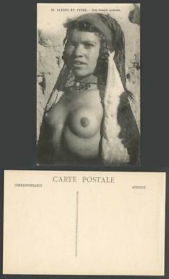 North Africa Nomade A Nomadic beauty Woman Girl Ethnic Life Old Postcard