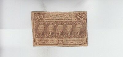 Fractional Currency Civil War Era Item vg stain
