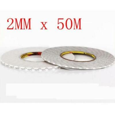 Double Side Adhesive Sticky 2mmX50m Tape For Mobile Phone Touch Screen LCD ψ