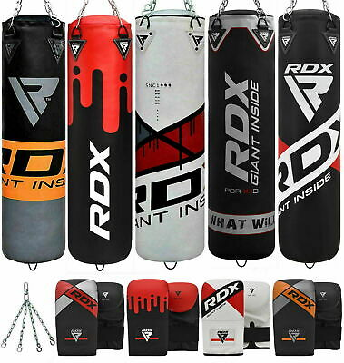 RDX Punching Bag Kick Boxing Free Standing MMA Mitts Muay Thai Training Unfilled
